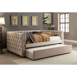 SUZANNE Ivory Full Daybed w/ Trundle