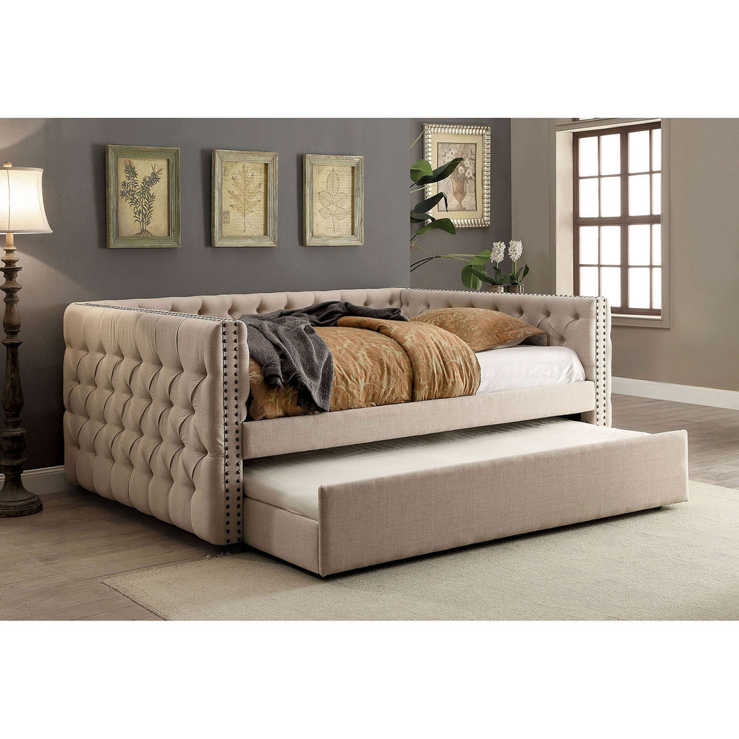 SUZANNE Ivory Twin Daybed w/ Trundle