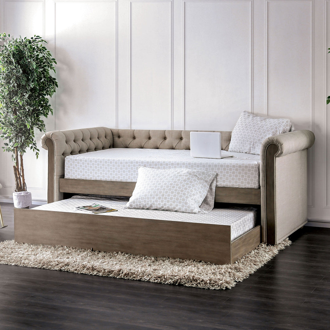 Jenna Beige/Rustic Natural Tone Daybed
