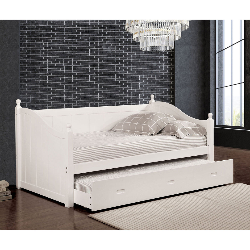 WALCOTT White Daybed w/ Twin Trundle, White