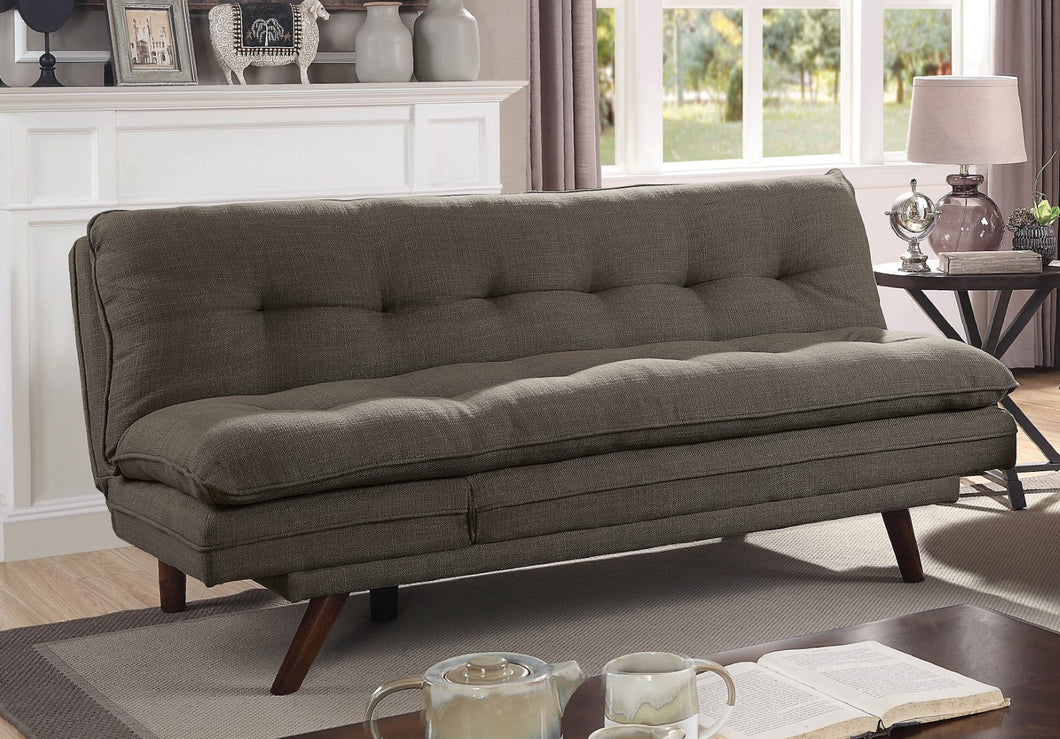 Braga Black/Light Oak Futon Sofa