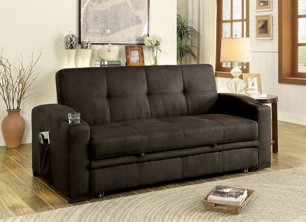 MAVIS Dark Brown Futon Sofa