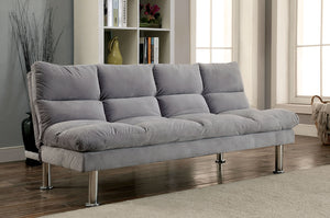 SARATOGA Gray Futon Sofa, Gray