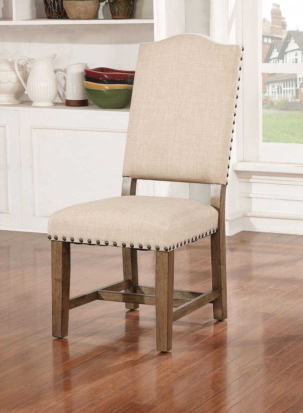 Julia Light Oak/Ivory Side Chair (2/CTN)