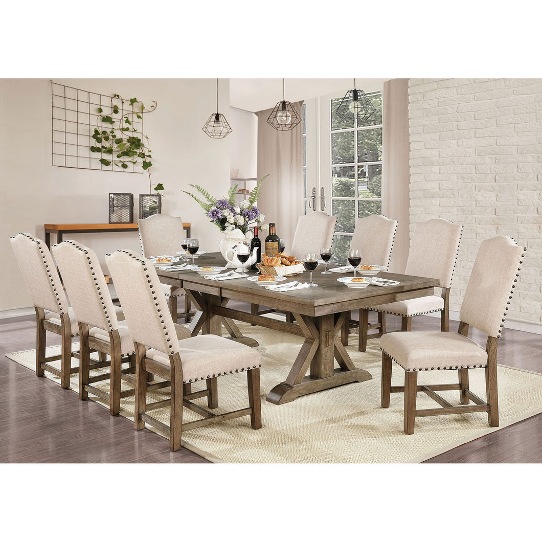 Julia Light Oak 7 Pc. Dining Table Set