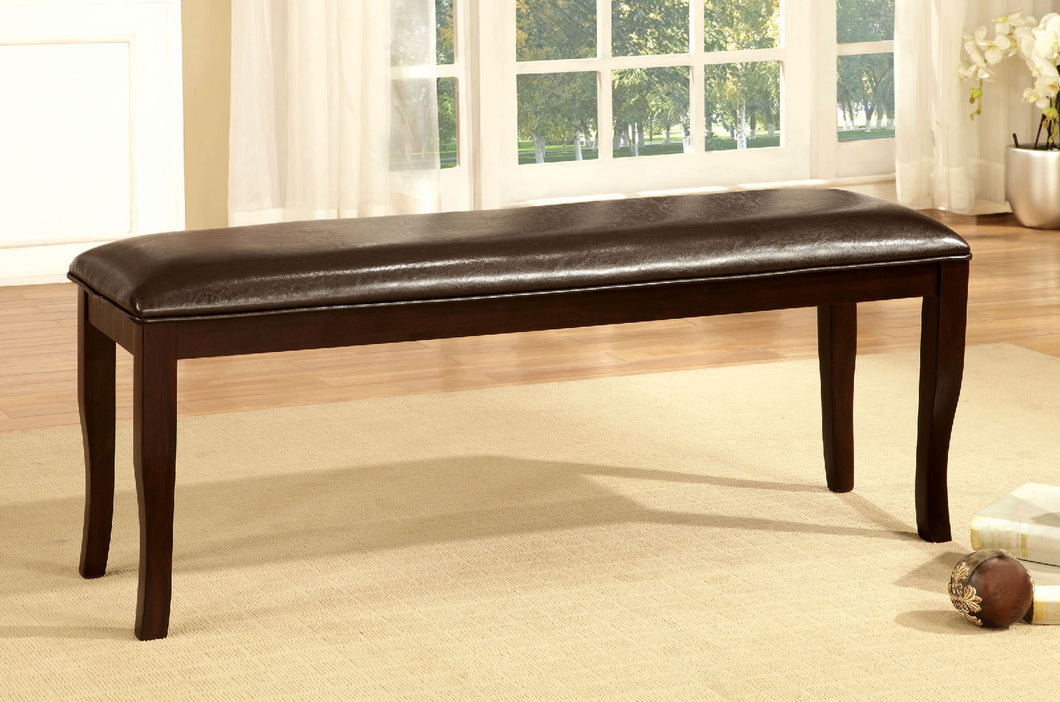 Woodside Dark Cherry/Espresso Bench