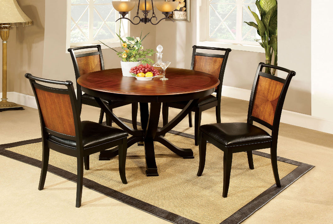 Salida I Espresso/Black Round Dining Table
