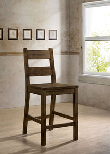 Kristen Ii Rustic Oak Counter Ht. Side Chair (2/CTN)