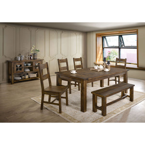 Kristen Rustic Oak 7 Pc. Dining Table Set