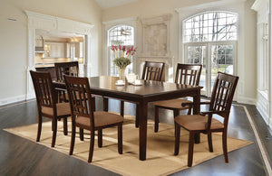 Central Park I Dark Cherry/Oak Dining Table
