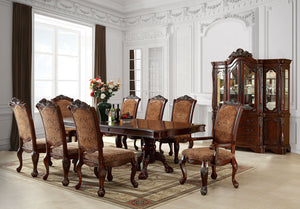Cromwell Antique Cherry 9 Pc. Dining Table Set (2AC+6SC)