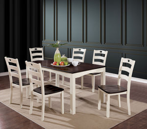 Liliana White/Walnut 7 Pc. Dining Table Set