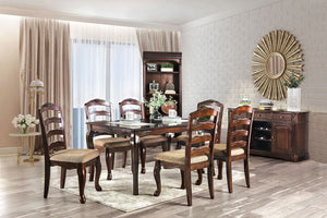 Townsville Dark Walnut 9 Pc. Dining Table Set