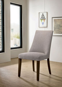 Woodworth Walnut Padded Side Chair (2/CTN)