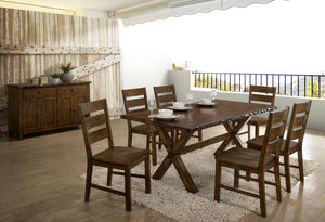 Woodworth Walnut 7 Pc. Dining Table Set