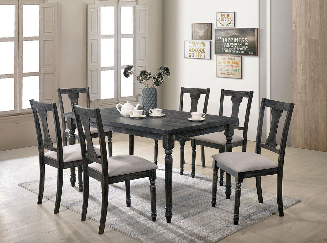 Muriel Weathered Gray Dining Table