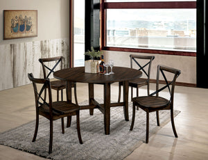 Saige Burnished Oak 5 Pc. Dining Table Set
