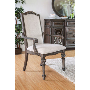 ARCADIA Rustic Natural Tone/ Ivory Arm Chair (2/CTN)