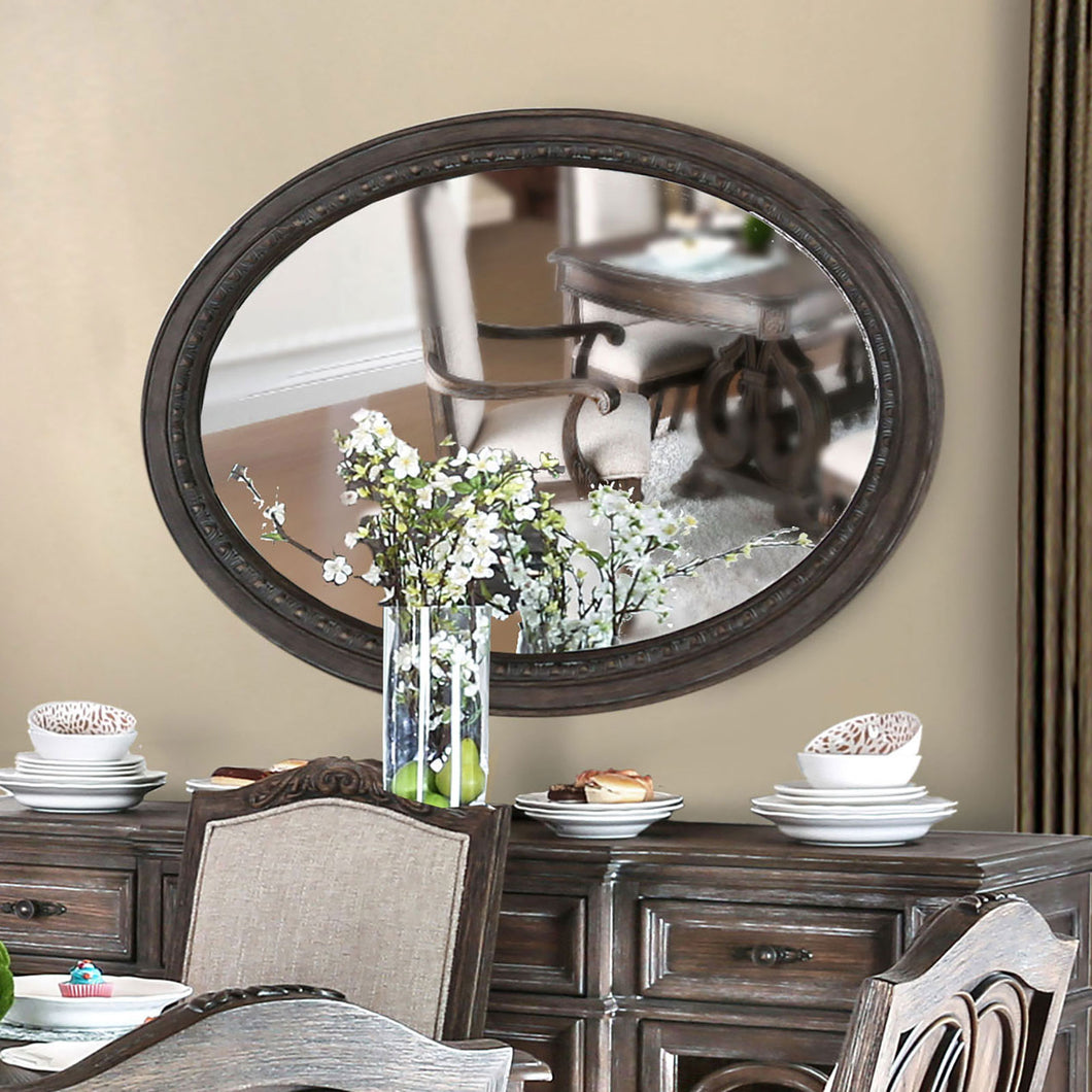 ARCADIA Rustic Natural Tone Mirror, Oval