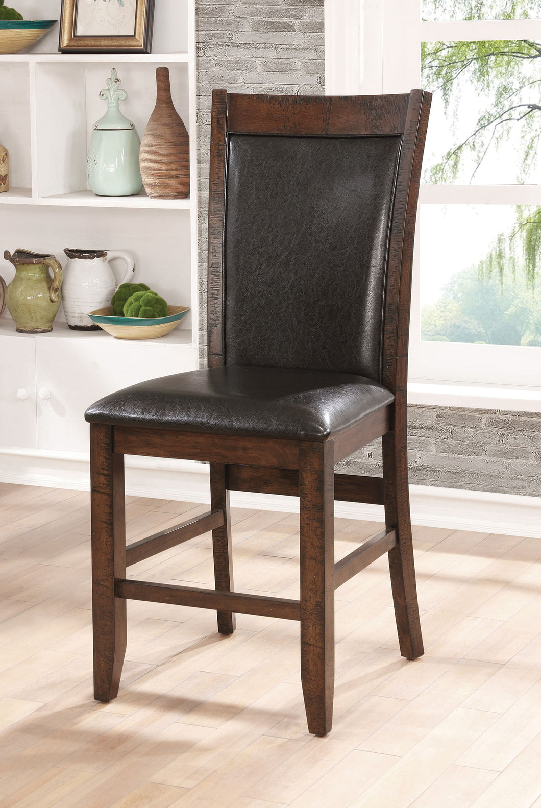 MEAGAN II Brown Cherry/Espresso Counter Ht. Chair (2/CTN)