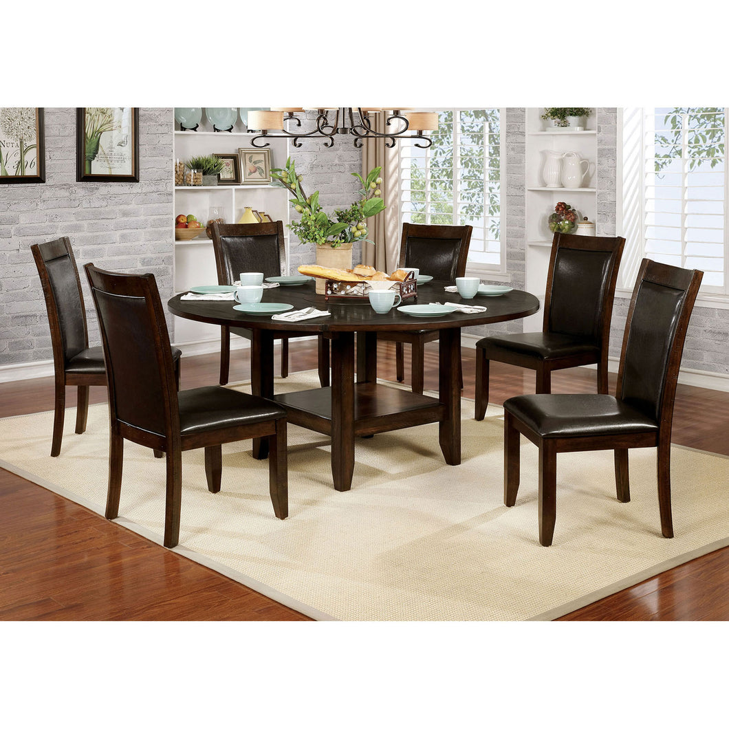 Mae Brown Cherry, Espresso 5 Pc. Dining Table Set