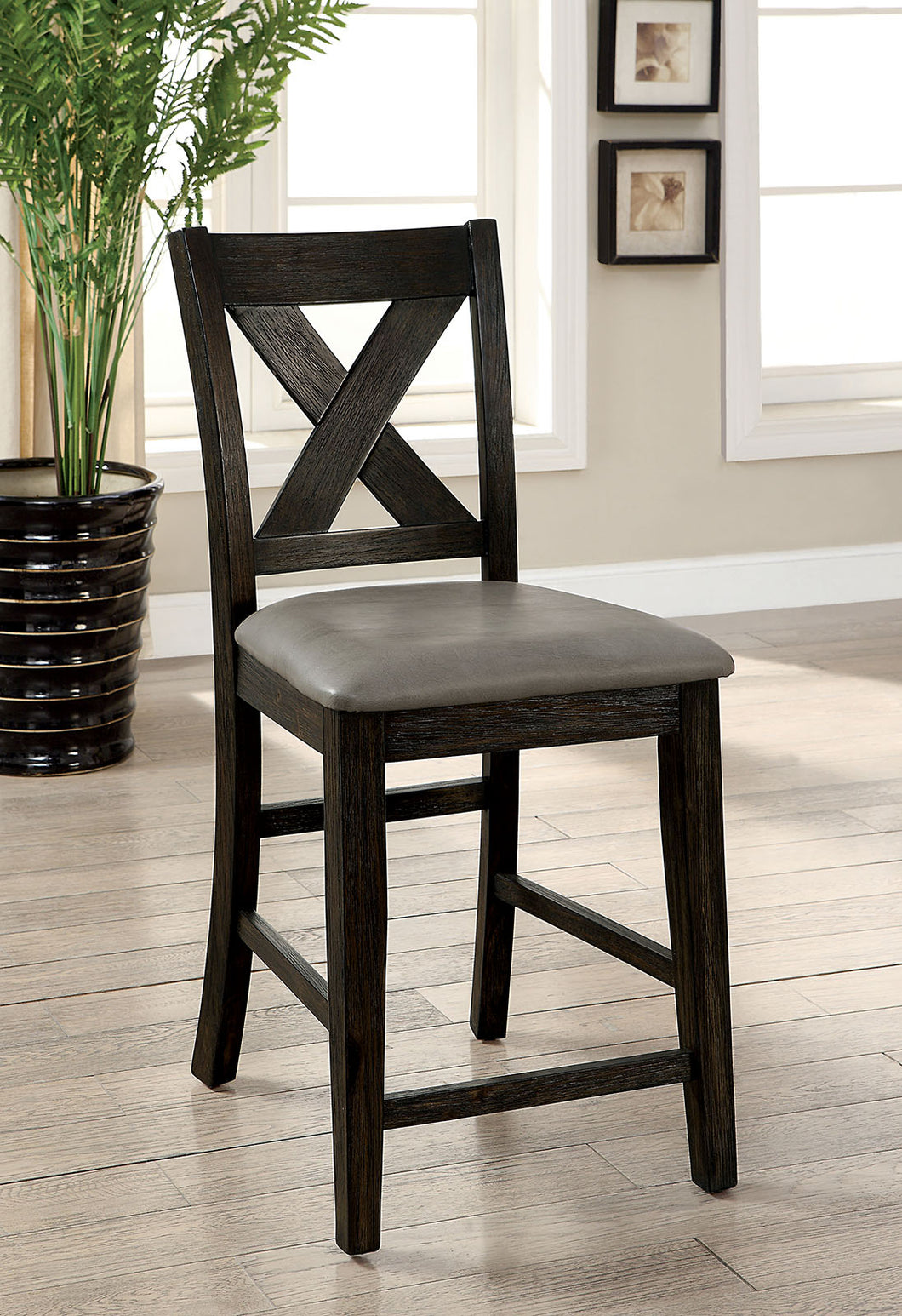 Lana Dark Walnut Counter Ht. Chair (2/CTN)