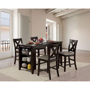 Lana Dark Walnut 5 Pc. Counter Ht. Table Set (4ST)