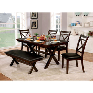 Jolie Dark Cherry 7 Pc. Dining Table Set