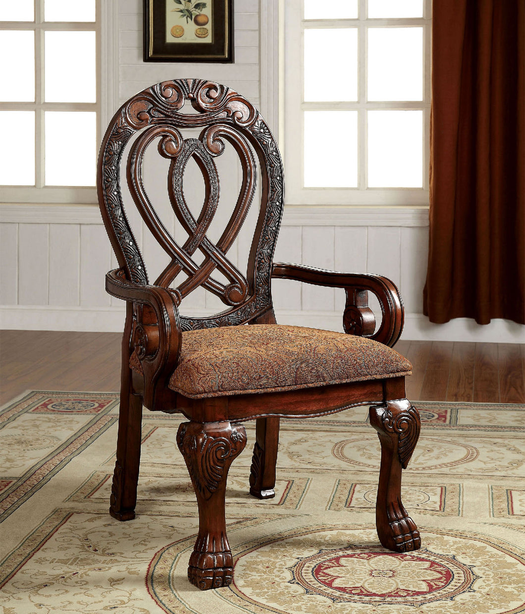 WYNDMERE Cherry Arm Chair (2/CTN)