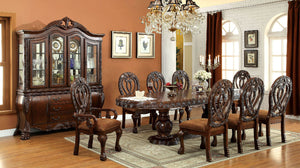 WYNDMERE Cherry 9 Pc. Dining Table Set (2AC+6SC)