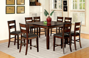 DICKINSON II Dark Cherry 9 Pc. Counter Ht. Dining Table Set