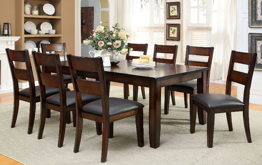 DICKINSON I Dark Cherry 7 Pc. Dining Table Set