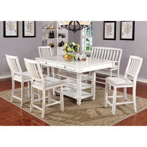 Kaliyah Antique White 7 Pc. Dining Table Set