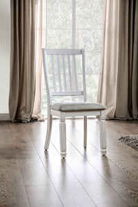 Kaliyah Vintage White/Light Gray Side Chair (2/CTN)
