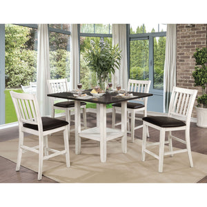 Rae Espresso/White 5 Pc. Counter Ht. Dining Table Set