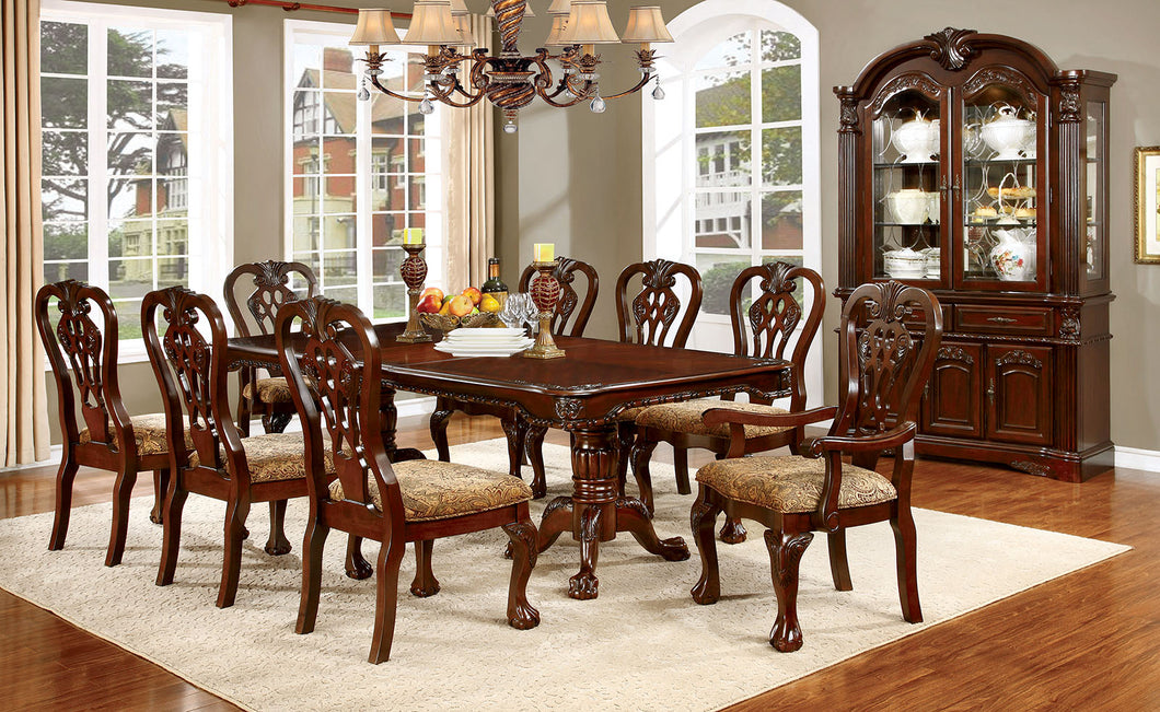 ELANA Brown Cherry Dining Table w/ 18