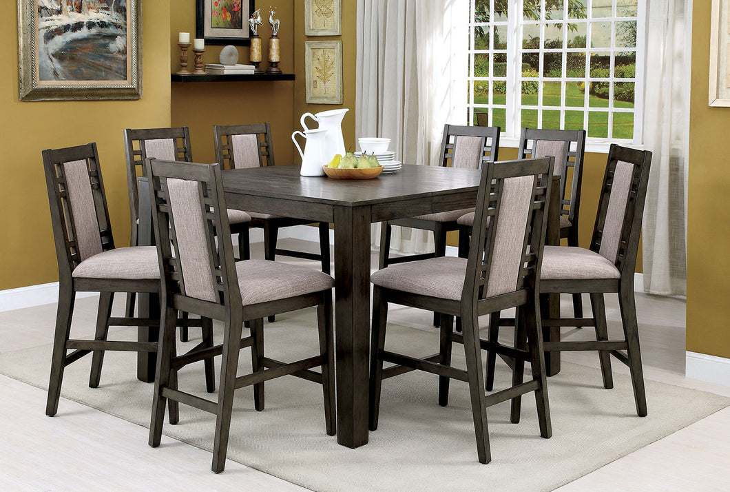 ERIS II Weathered Gray 7 Pc. Counter Ht. Dining Table Set