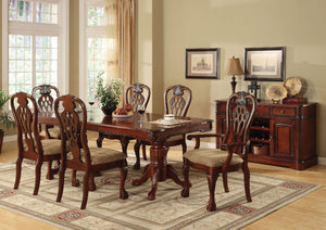 GEORGETOWN Antique Cherry Dining Table w/ Double Pedestals