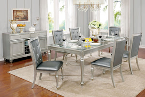 SARINA Silver, Gray 7 Pc. Dining Table Set