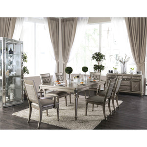 Xandra Champagne 7 Pc. Dining Table Set (2AC+4SC)