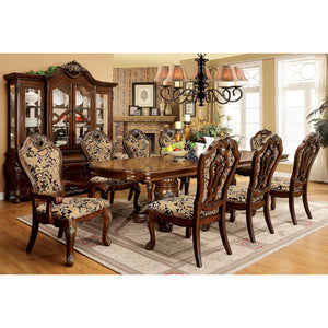 VICENTE Cherry 7 Pc. Dining Table Set (2AC+4SC)