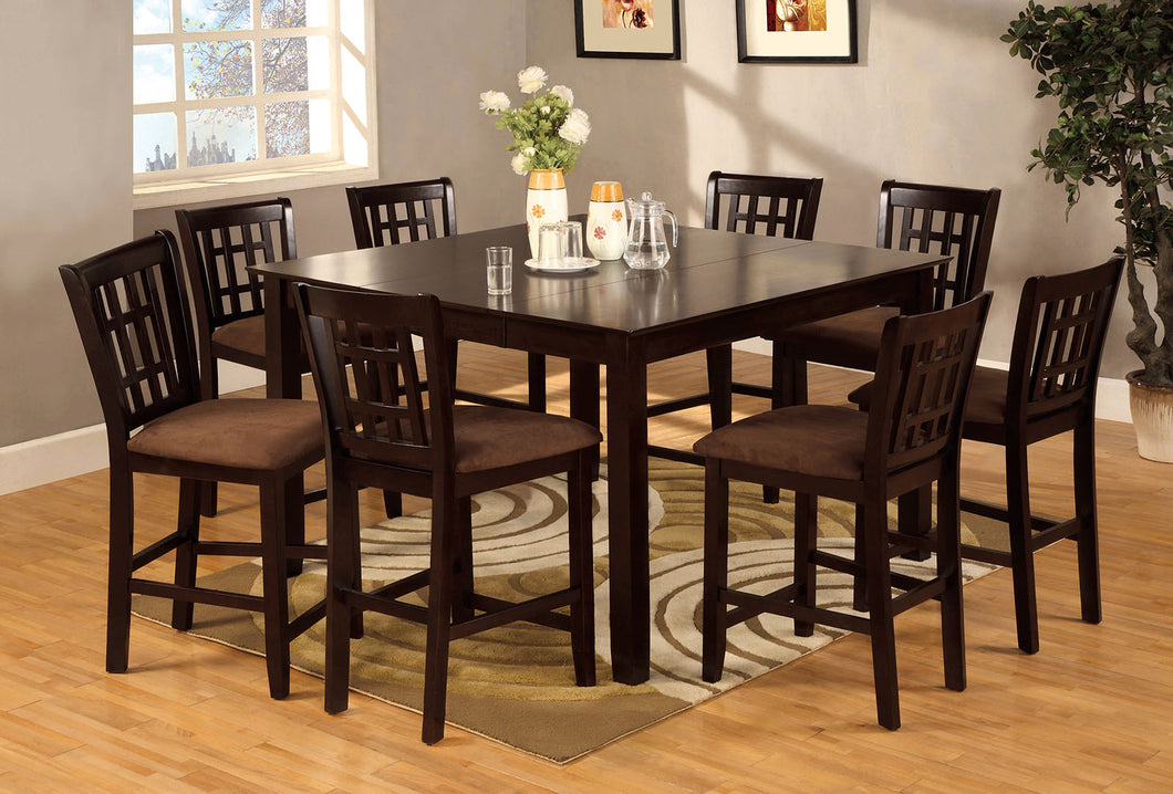Eleanor Espresso 7 Pc. Sq. Counter Ht. Table Set