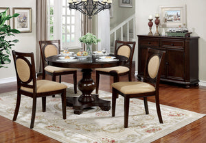 Abergele Brown Cherry Round Dining Table