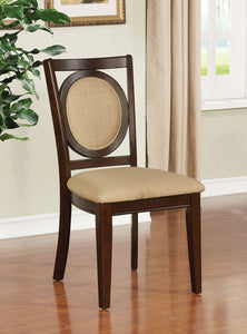 Abergele Brown Cherry/Tan Side Chair (2/CTN)