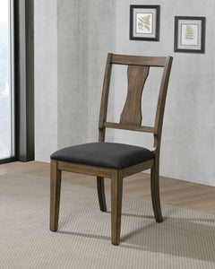 Benllech Light Oak/Dark Gray Side Chair (2/CTN)
