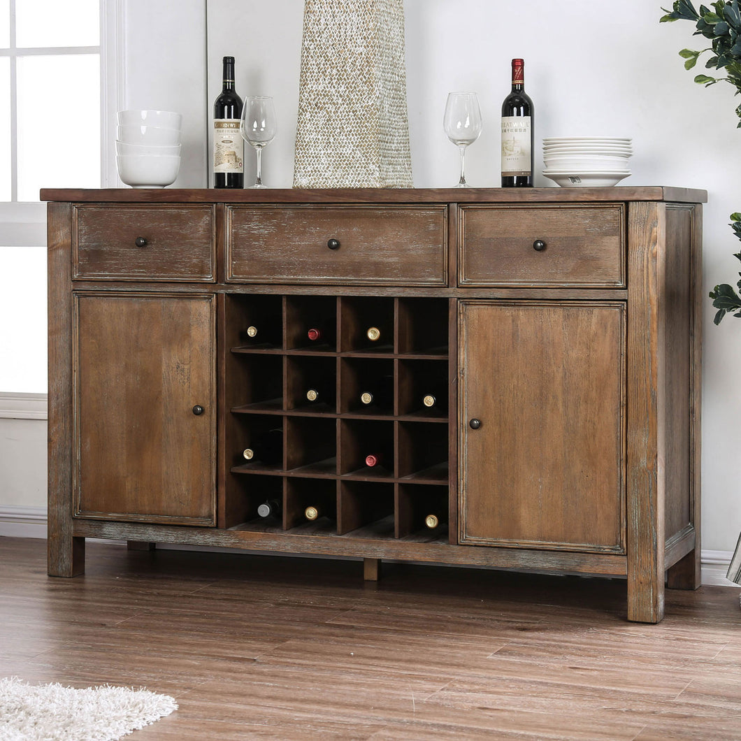Sania I Rustic Oak Server
