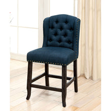 Load image into Gallery viewer, SANIA Antique Black Counter Ht. Wingback Chair (2/CTN)