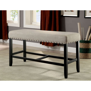 SANIA II Antique Black/Beige Counter Ht. Bench