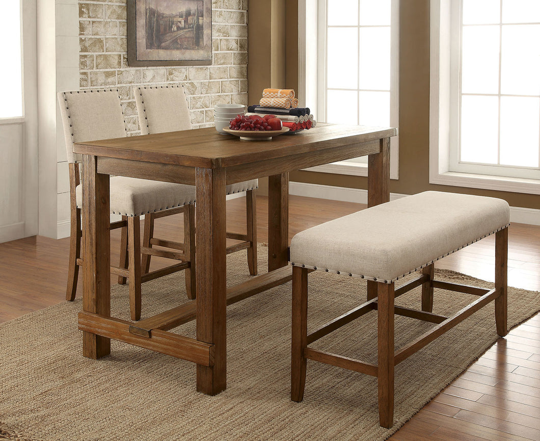 SANIA Natural Tone 5 Pc.Counter Ht. Dining Table Set