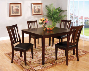 Bridgette I Espresso 5 Pc. Sq. Dining Table Set